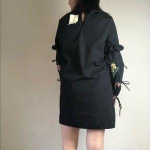 Rebellion Dresses - Rebellion black floral long sleeved dress size L